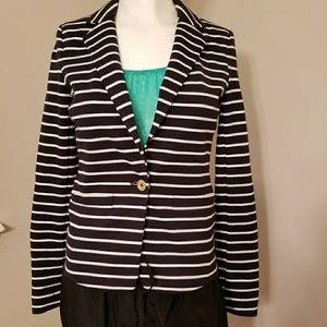 Michael Kors Ponte Striped Blazer